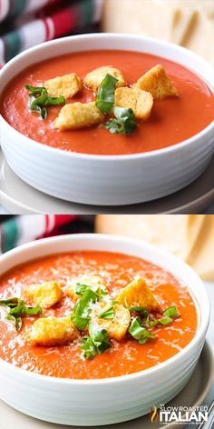 Applebee's Copycat Tomato Basil Soup This Tomato Basil Soup is filling, comforting, and so easy to make from scratch! Move over Applebee's, this easy soup recipe tastes even better than the original and is ready in only 30 minutes. Tomato Soup Recipes, Easy Soup Recipes, Cooking Recipes, Healthy Recipes, Easy Tomato Basil Soup, Tomato Soup From Scratch, Tomato Rice Soup, Vitamix Soup Recipes, Clean Eating Snacks