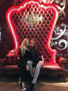 """Eva and Kristina Hard Rock Cafe Vienna"""