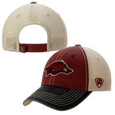 2c13d79d618 Arkansas Razorbacks Top of the World Red Offroad Adjustable Snapback Hat Cap
