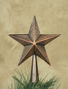 Barn Star Tree Topper Simple Beautiful I Really Want This One American Barnearly Americanaged Copperchristmas