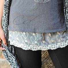 Shirt Extender Cream Lace