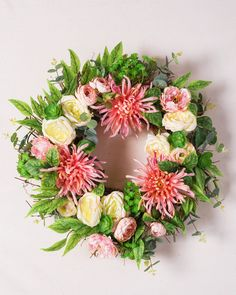 Displayed on the mantel or in an entryway, our Fuji Mums Flower Wreath enlivens your home with lasting beauty and sophistication.