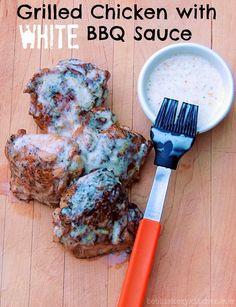 Bobbi's Kozy Kitchen: Grilled Chicken with White BBQ Sauce