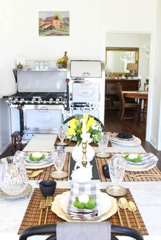 Spring in the kitchen - ideas for a spring table and decor