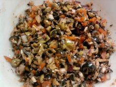 I got this recipe out of Chili Pepper magazine a couple of years ago. It is the real thing for a muffuletta and great on any other sandwich. Creole Recipes, Cajun Recipes, Italian Recipes, Cooking Recipes, Healthy Recipes, Croatian Recipes, Hungarian Recipes, Cooking Tips, Muffuletta Recipe