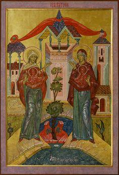Icon Gallery — Prosopon School of Iconology Byzantine Icons, Byzantine Art, Religious Icons, Religious Art, Luke The Evangelist, St Brendan, Greek Icons, School Icon, Biblical Art