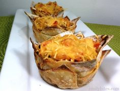 """Emily Bites - Weight Watchers Friendly Recipes: Cheeseburger """"Cupcakes"""""""