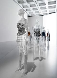 The show sheds light on Miyake's ideas about making things, and his approach to design — spanning from his earliest works to his latest projects — and to showcase his creations, Yoshioka has envisioned two mannequin typologies to display Miyake's clothing which stem from the idea of 'A piece of cloth' being transformed into a beautiful shape that is worn on the human body.