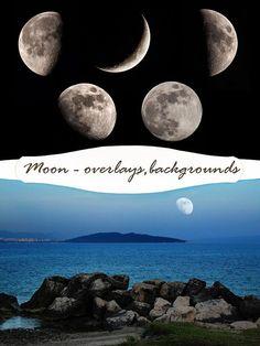 moon photo overlay photography overlays moon backgrounds