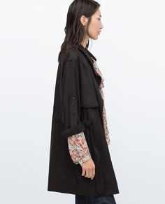 TRENCHCOAT WITH ROLL-UP CUFF