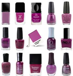 Loads of Radiant Orchid for your nails.  Take your pick. #noseyparkerokc #okc #oklahoma