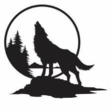 Tribal Heart Tattoos, Geometric Wolf Tattoo, Wolf Tattoos, Wolf Silhouette, Silhouette Tattoos, Silhouette Clip Art, Wolf Clipart, Armband Tattoo Design, Mountain Drawing