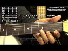 How To Play The World's 4 Most Popular Guitar Chords + Easy Transition & Transposition GCDEm - YouTube