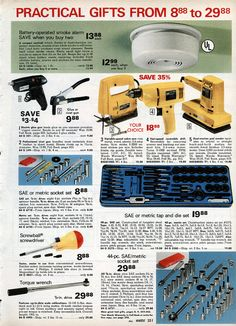 Tools and other boring gifts Montgomery Ward Christmas Catalog 1978