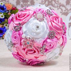 """Купить Букет дублер """"Розовые розы"""" - бледно-розовый, букет дублер, букет, букет из игрушек"""