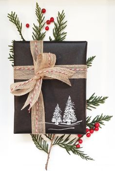 Chalkboard wrapping paper, Nyla Free Designs