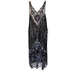 1920s Silk Net Sequin Flapper Over Dress - Simply gorgeous