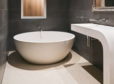 The Crest vanity and Lunar Bath by Apaiser     www.apaiser.com    #apaiser #bath #interior #design #architecture #home #hotel #bathroom #vanity #architecture