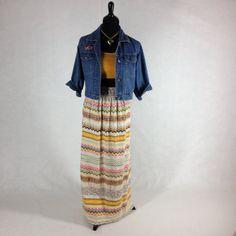Rare vintage boho hippie maxi skirt late by EleanorFayesFashion