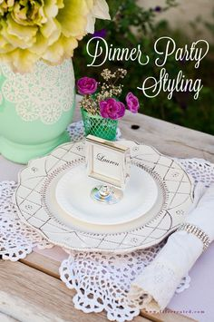 Tips and tricks for styling a #wedding or dinner party table!