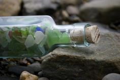 Sea glass at Cinnamon Beach in Palm Coast. Great place to take Michael to.