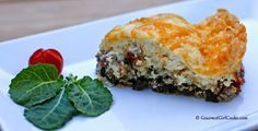 Impossibly Easy Beef Kale Cheddar Pie Shared on https://www.facebook.com/LowCarbZen | #LowCarb #Beef #Dinner