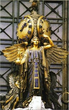 "The statue 'Queen Of Time"" ~ located in front of the Selfridges Store, 400 Oxford Street in London, England"
