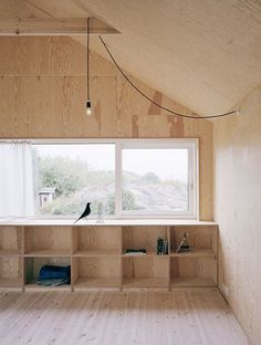 plywood decor by Johannes Norlander architecture. / sfgirlbybay
