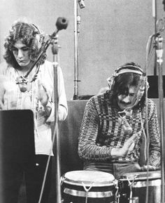 Robert Plant and John Bonham of Led Zeppelin