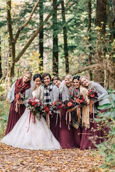 Super cosy autumn wedding idea! Photo by Olive Photography http://ruffledblog.com/woodland-christmas-wedding | Ruffled