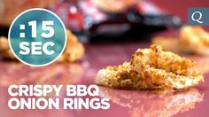 Crispy BBQ Onion Rings #15SecondRecipe Up your #CrunchClean game with these healthy & delicious onion rings coated with BBQ Quest Protein Chips.   WATCH this tasty #15SecondRecipe that is a perfect complement to any meal. High in protein. No fryer required. Serve with your favorite dipping sauce.