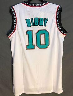 Men 10 Mike Bibby Jersey White Vancouver Grizzlies Jersey Swingman 376ec4884
