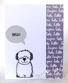 Hello, Hola, Bonjour... Card #janesdoodles