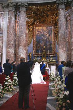 Rom, Via del Quirinale, Sant'Andrea al Quirinale, Trauung (wedding ceremony)