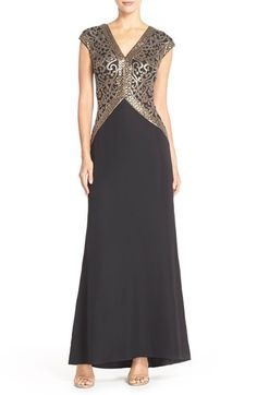Tadashi Shoji Sequin Embroidered Gown available at #Nordstrom