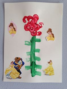 Rose Craft - using the end of a bunch of celery - Beauty and the Beast Craft - Preschool Craft