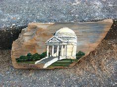 Hand Painted Illinois Memorial Civil War Tribute on Mississippi Petrified Wood       #artsandcrafts #petrifiedwood #fossil #rock #minerals #handpainted #originalart #nature #decor #naturedecor #crafts #art #civilwar #illinois