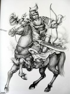 Los Primates, Horse Tattoo Design, Full Tattoo, Zen Colors, Art Nouveau Illustration, Paradise Tattoo, Oriental Tattoo, Samurai Warrior, Buddhist Art