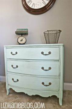 Mint Gala Valspar   I love this color and the dresser.