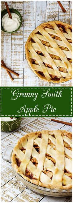A Granny Smith Apple Pie is the perfect combination of tart apples, savory spices, and sugary sweetness cradled in a flaky crust.  Top it with homemade whipped cream and what could be better?