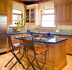 Interior design ideas kitchen wood Mexican style furniture