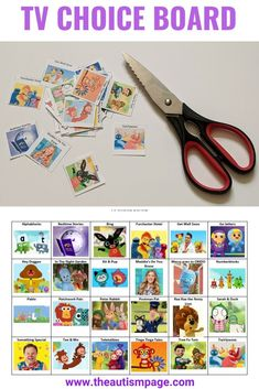Free Kids TV Shows pecs cards