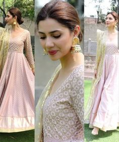 Love the lip colour Pakistani Dress Design, Pakistani Bridal, Pakistani Outfits, Indian Outfits, Celebrity Dresses, Celebrity Style, Indian Attire, Indian Wear, Indian Designer Suits