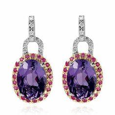 pink and purple sapphire earrings   | jewelrysitesland