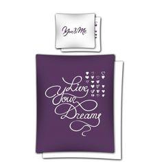 Fialové romantické posteľné obliečky s bielym nápisom Perfume Bottles, Beauty, Beleza, Perfume Bottle
