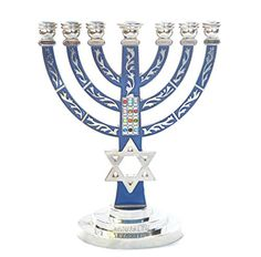 MENORAH Star of David HoshenMenora holyland 7 branches Jerusalem Israel nickel -- Read more at the image link.