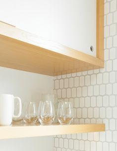 Kitchen of the Week: Oakland Family Kitchen by Medium Plenty - Remodelista - Ann Sacks - Hive Ricepaper tile