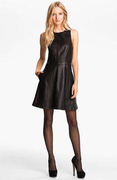 rag & bone 'Renard' Full Skirt Leather Dress | Nordstrom--fab frock