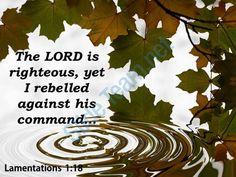 lamentations 1 18 the lord is righteous powerpoint church sermon Slide01http://www.slideteam.net