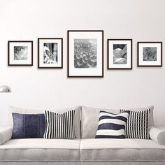 Family Pictures On Wall, Living Room Pictures, Hanging Pictures On The Wall, Hang Pictures, Bedroom Wall Pictures, Collage Pictures, Wall Decor Pictures, Collage Ideas, Cadre Photo Mural